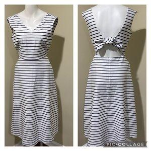 Kate Spade White Blue Stripe Dress w pockets 2